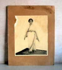Old Vintage Indian Lady Woman In Saree Black & White Camera Photograph 1900's