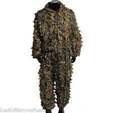 Camouflage Clothing Leafy Jungle Suit Set 3D Leafy Ghillie Suit for Hunting-Bird