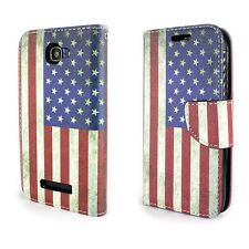Wallet For Alcatel One Touch Fierce 2 / Pop Icon Case Folio American Flag Cover