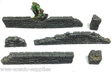 Stone Walls Set 6 x Fantasy Warhammer Damaged / Ruin Walls R10