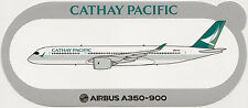 Official Airbus Sticker:  Cathay Pacific Airways A350-900 in New Color