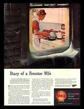 "Antique Original 1945 Shell Gas Oil  ""Diary of a Frontier Wife"" Vintage Print Ad"