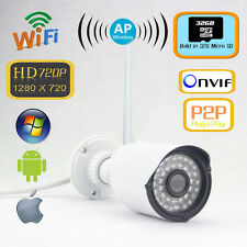 Outdoor IR HD 720P Wireless Wifi Network IP Camera Webcam Audio I/O P2P 32GB TF