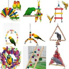 Colorful Swing Bird Rope Parrot Toys Cages Triangle Swing Rope Cockatiel Conure