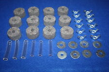 CYMBAL FELTS Grey + Sleeves + Wingnuts + Washers For Drum Kits - 38 PIECE SET