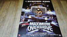 stephen king MAXIMUM OVERDRIVE  ! affiche cinema , trucks