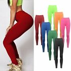 Women YOGA Workout Gym Solid Sports Pants Leggings Lady Fitness Stretch Trousers