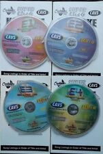 4 SCDG DISCS CHARTBUSTER ESSENTIALS VOL 1,2,3,4 KARAOKE SET 1800 SONGS CAVS