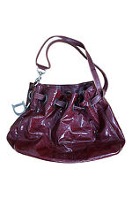 *CHRISTIAN DIOR* CANNAGE RED PATENT LEATHER DRAWSTRING BAG