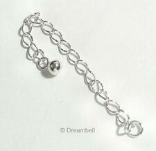 """2x Sterling Silver Bead Chain Necklace Extender W/ 4mm Dot Ball 2"""""""