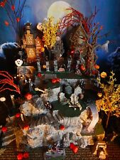 HALLOWEEN Tall LIGHTED Village DISPLAY PLATFORM base, 37 Stairs, Cave, Dept 56