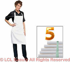 5 New Waterproof Chemical Proof Aprons Stylist Technician Apron Spa Hair Salon W