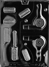 BEAUTICIAN SET PIECES 3D blow dryer  mold Chocolate candy hair dresser comb