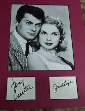 Tony Curtis and Janet Leigh Original SIGNED cards and Promotion Picture
