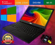 DELL LAPTOP LATITUDE WINDOWS 10 CORE 2 DUO 2.4GHZ 4GB 160GB DVDRW WIFI COMPUTER