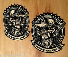 2x Smith & Wesson Cowboy Oldschool Sticker Aufkleber USA Car V8 V6 Skull Retro