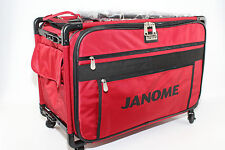 Original JANOME Trolley Groß  in ROT für JANOME, PFAFF, Brother, Juki, Elna