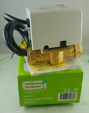 ESi Energy Saving Innovations 2 Port 22mm Zone Valve ESZV222L 5 Wire Valve