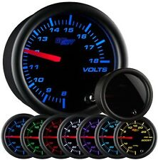 Glow Shift Tinted 7 Color Series Volt Gauge