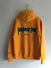 JUSTIN BIEBER Purpose Tour SECURITY Hoody By Jerry Lorenzo YELLOW Size M