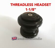 "HEADSET Threadless Ahead 1-1/8"" Mountain Bike Road Hybrid 34mm Cups BLACK"