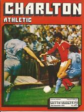 Football Programme - Charlton Athletic v Notts County - Div 2 - 26/12/1979