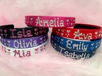 2 for 7.50 * 2 Personalised satin 2cm headband/hairband/alice band ANY NAME