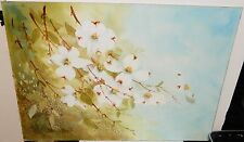 B.B. MICHL WHITE FLORAL WATERCOLOR PAINTING