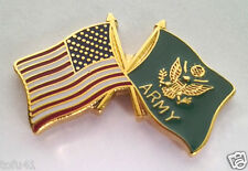 ** USA AMERICAN / US ARMY FLAG ** Military Veteran Hat Pin 14809 HO SMALL