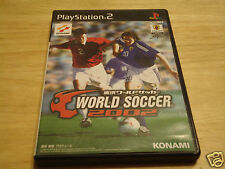 WORLD SOCCER 2002 USED PLAYSTATION 2 - PS2 (NTSC-J) JAPAN IMPORT!