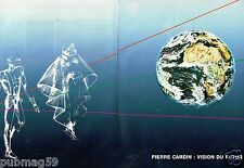 Publicité Advertising 1987 (2 pages) Pierre Cardin Vision du Futur