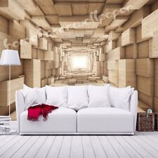 Photo Wallpaper WOODEN 3D EFFECT ABSTRACT TUNNEL  240 h / 350 w