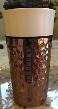 Starbucks Ceramic & Stainless Hammered Tumbler Rose/Gold Copper 12oz NWT VHTF
