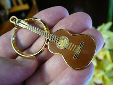 (M215-B) RAMIREZ Classical GUITAR KEY CHAIN Jewelry 24k gold plt I love guitars