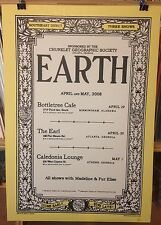 EARTH ORIGINAL 2008 CONCERT POSTER by Henry Owings Edition of 66