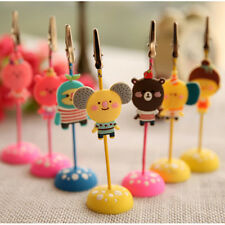 Cute Memo Holder Photo Picture Paper Note Clip Stand Place Card SE
