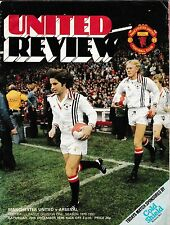 Football Programme MAN UTD v ARSENAL Dec 1979