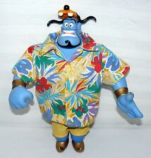 DISNEY ALADDIN GENIE VINYL FIGURE DRESSED TROPICAL OUTFIT / GOOFY CAP VACATION