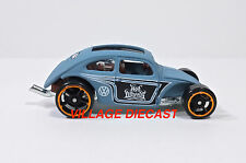"2016 Hot Wheels ""Volkswagen"" VW Custom Beetle MATTE BLUE GREY/MINT"