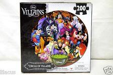 "18"" Diameter Disney Lenticular 3D Circle of Villains 200 Piece Puzzle - New"