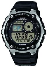 Casio New AE-2100W-1A Sport World Time Alarm Water Resistant Mens Watch AE-2100