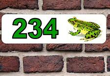 Frog House Door Number Sign  Design Metal Door Sign
