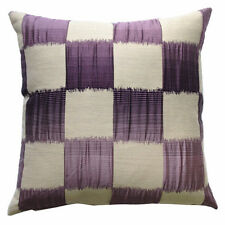 LUXURY STYLE EMPIRE SQAURES FAUX SILK CUSHION COVER