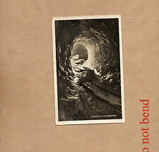 Switzerland Ice Grotto inside the Rhone Glacier 1930's Real photo unposted art