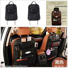 Multi Car Seat Back Storage Bag Multi Pocket Organizer Waterproof Leather Black