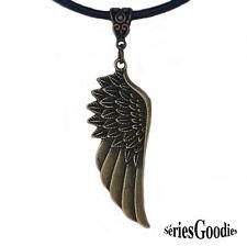 bijou gothique vampire fantaisie créateur collier aile d'ange couleur bronze