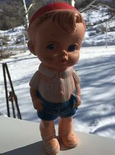 "Edward Mobley BOY with BEANY COPTER Vintage 8"" Squeaker Toy"