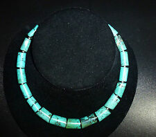 "Natural Turquoise Artisan Necklace 18""L 96gram"