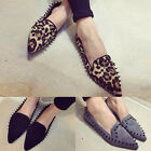 Korean Fashion Women's Pointed Toe Sandals Flats Loafers Rivet Studded Shoes