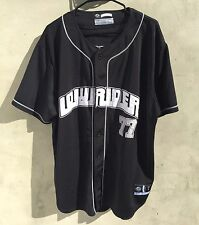 LOWRIDER LOW RIDER MENS SEWN BUTTON FRONT BASEBALL JERSEY SIZE LARGE L